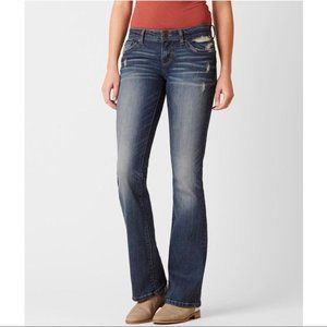 BKE Stella Distressed Boot Cut Stretched jeans